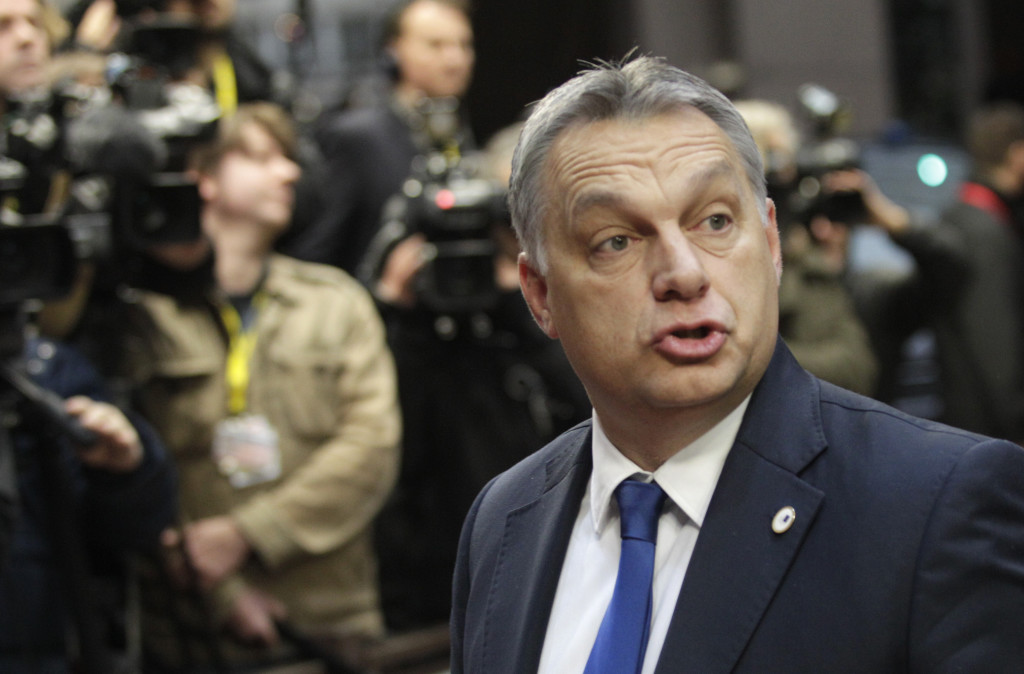 ap foto : francois walschaerts : hungarian prime minister viktor orban arrives for an eu summit in brussels on friday, dec. 18, 2015. european union leaders are reconvening in brussels for the final day of their year-end summit with a wide-ranging agenda including how to build greater economic unity among their 28 countries and stepping up the fight against terrorism. (ap photo/francois walschaerts) europe eu summi automatarkiverad